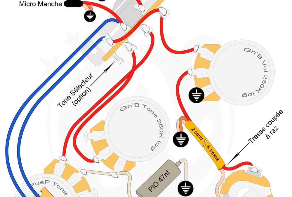 Plan câblage Strat Chevalet + Manche