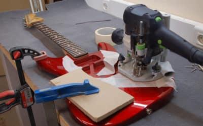 Défonce cavité électronique guitare pour push pull