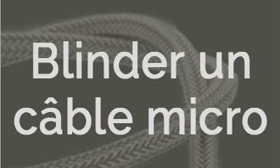 Blinder un câble micro guitare vintage
