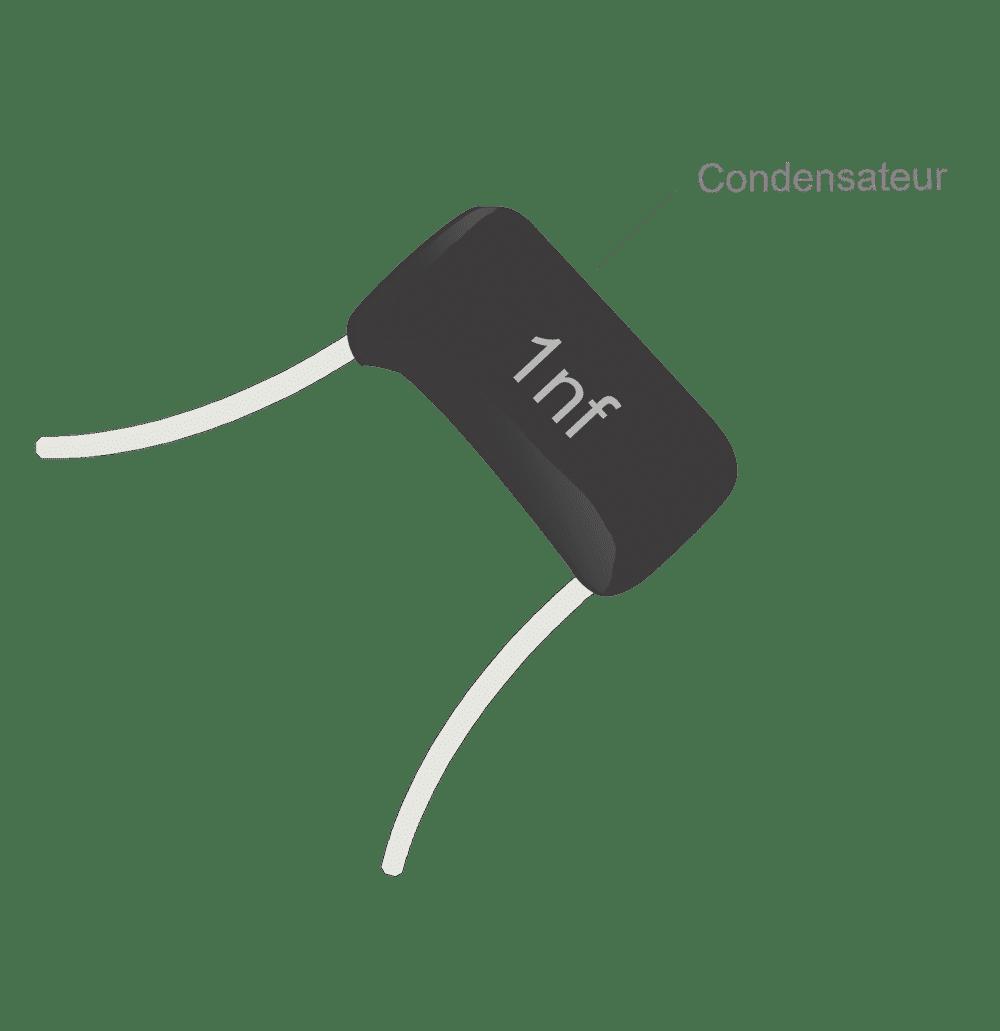 Condensateur Mylar treble bleed 1nf
