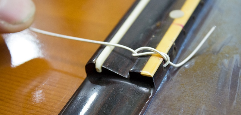 resultat noeud corde grave guitare classique